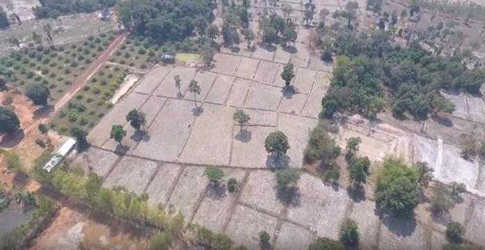 สภาพพื้นที่เกษตรของชาวบ้านรอบหนองโนนต่าย