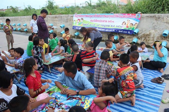 เยาวชนในหมู่บ้าน เข้าร่วมกิจกรรมสันนทนาการต่างๆ อย่างมีความสุข