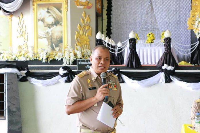 นายธีรวิทย์ ทองนอก ปลัดเทศบาลเมืองหนองปรือ ร่วมพบปะพูดคุยกับประชาชนที่มาสมัครเป็นคณะกรรมการชุมชน รุ่นที่ 4