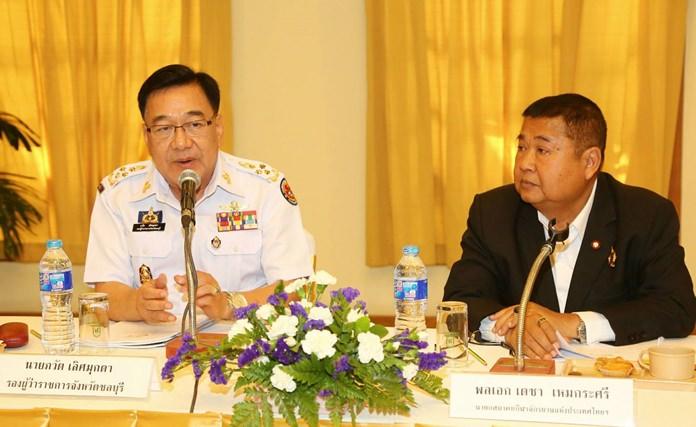 นายภวัต เลิศมุกดา รองผู้ว่าราชการจังหวัดชลบุรี พร้อมด้วย พลเอก เดชา เหมกระศรี นายกสมาคมกีฬาจักรยานแห่งประเทศไทย ในพระบรมราชูปถัมภ์ เป็นประธานการประชุมเตรียมความพร้อมการจัดการแข่งขันจักรยานทางไกลนานาชาติ ที่จะเริ่ม ระหว่างวันที่ 1 - 10 เมษายน 61 นี้