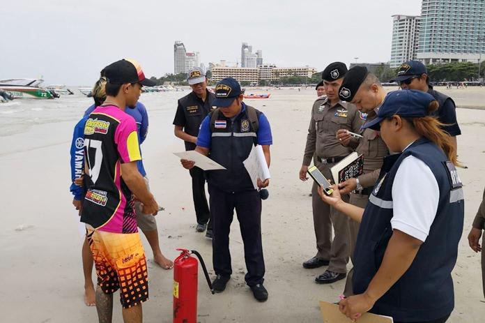 ตำรวจท่องเที่ยวพัทยา สร้างความปลอดภัยทางทะเล  ออกตรวจความพร้อมการให้บริการของผู้ประกอบการเรือนำเที่ยว