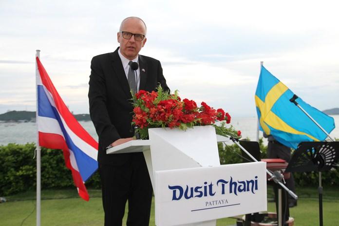 MR.Staffan  Herrstrom เอกอัครราชทูตสวีเดน ประจำประเทศไทย ที่พัทยา