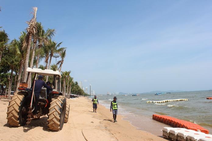 ทยอยดำเนินการซ่อมแซมตลอดแนวชายหาด คาดว่าจะใช้เวลาประมาณ 3-4  วัน