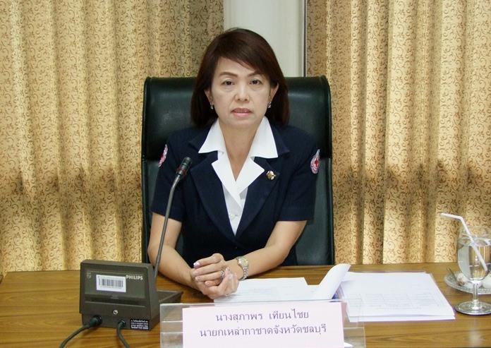 กาชาดจังหวัดชลบุรี จัดการประชุมคณะกรรมการเหล่ากาชาด