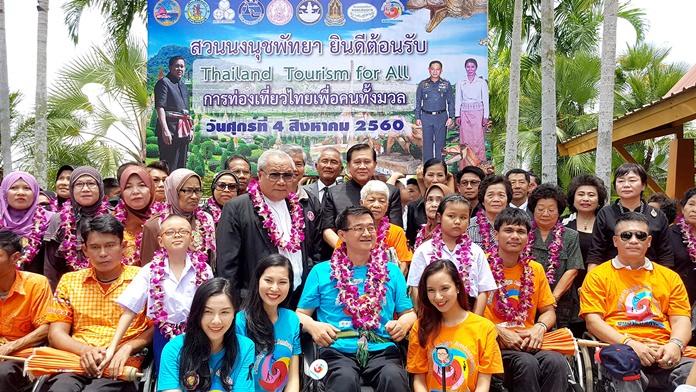 สวนนงนุชพัทยา เปิดงาน Friendly Design การท่องเที่ยวไทยเพื่อคนทั้งมวล ให้คนพิการเที่ยวฟรีตลอดกาล