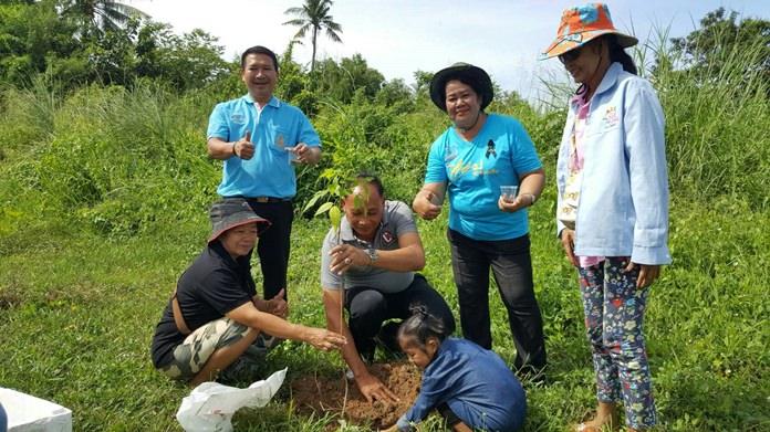 ชุมชนหนองปรือ3 ปลูกต้นไม้ทำความดีเพื่อแม่