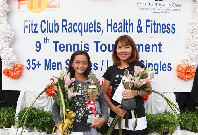 ผู้ชนะเลิศหญิงเดี่ยว Ms.De lilah Kuronen ผู้ชนะเลิศ และ Ms. Panpaporn Sricharoen รองชนะเลิศ