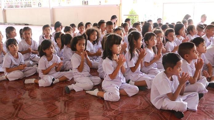 นักเรียนศูนย์พัฒนาเด็กเล็ก และนักเรียนโรงเรียนวัดสุทธาวาส ร่วมกิจกรรมส่งเสริมพระพุทธศาสนา