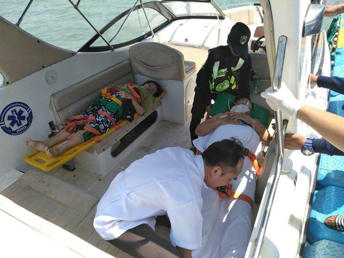 หน่วยเร็วศูนย์ควบคุมปลอดภัยทางทะเลฯเมืองพัทยาสร้างชื่อ รุดช่วย 2 นักท่องเที่ยว พ้นจากจมน้ำและลื่นล้ม