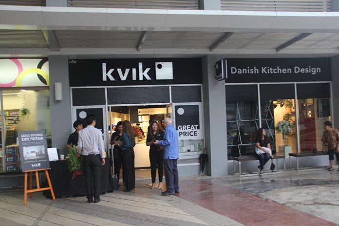 """เปิดตัวโชร์รูมแบรนด์เฟอร์นิเจอร์ครัว นำเข้าจากเดนมาร์ก """" Kvik"""" สาขาพัทยา ภายในโครงการ Baan & Beyond พัทยาใต้"""