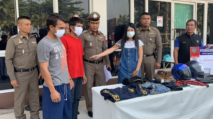 ตำรวจพัทยา ตามรวบ 2โจ๋ซิ่งบิ๊กไบค์ กระชากกระเป๋าสาวขอนแก่น