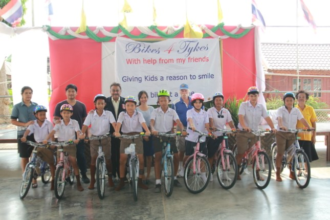 สมาคมพัทยาสปอร์ตคลับ มอบจักรยานให้เด็กนักเรียน โรงเรียนวัดหนองเกตุใหญ่ 9 คัน ต่อเนื่องปีที่ 5
