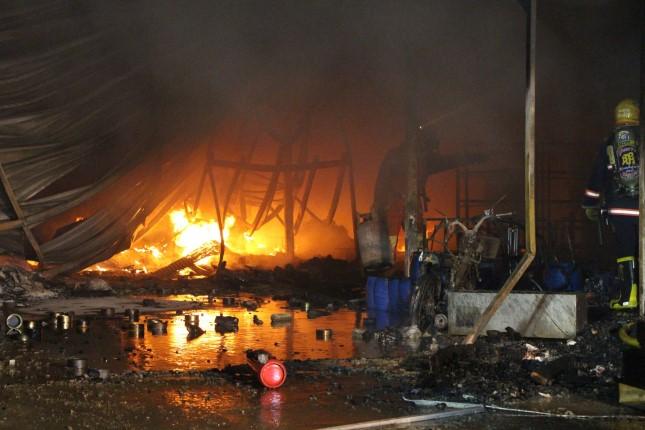 เพลิงไหม้วอด! โรงงานผลิตน้ำยาเคลือบรถยนต์ เสียหายกว่า 10 ล้านบาท