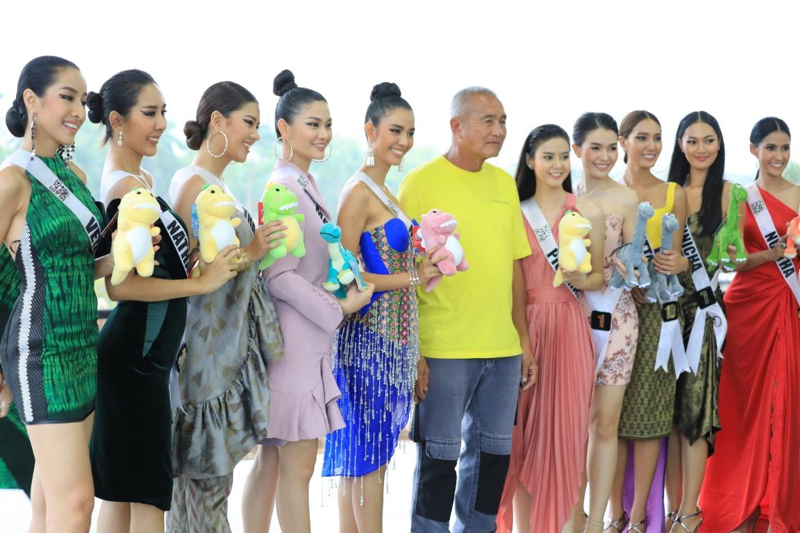 สาวงามผู้เข้าประกวด MISS UNIVERSE THAILAND 2019 ถ่ายทำ VTR สวรรค์บนดิน สวนนงนุชพัทยา