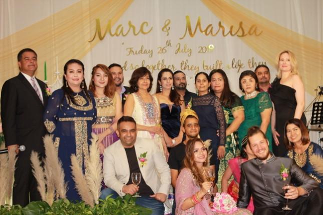 พิธีแต่งงาน MARC & MARISA  ญาติคนไทยเชื้อสายอินเดีย และนักธุรกิจ ร่วมแสดงความยินดีคับคั่ง
