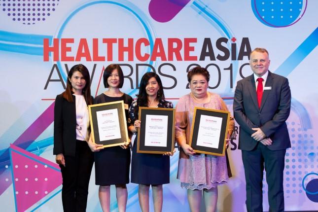 โรงพยาบาลกรุงเทพพัทยาคว้า 3 รางวัล จากงาน Healthcare Asia Awards 2019 ที่ Singapore