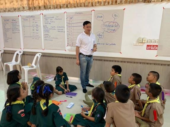 มูลนิธิ HHN เพื่อเด็กไทย สานต่อโครงการขยายผลความรู้เกมการ์ดพลังป้องกันเด็ก  ร.ร.ราษฎร์ประดิษฐ์วิทยา
