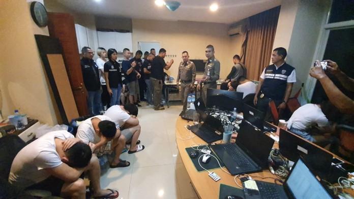 ผู้การชลบุรี นำทีมบุกจับแหล่งการเงินบ่อนพนันออนไลน์ใหญ่เมืองจีน
