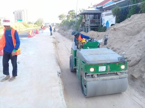 เมืองพัทยาเผยความคืบหน้า โครงการก่อสร้างสถานีสูบน้ำพร้อมท่อระบายน้ำ บ้านเขาตาโล