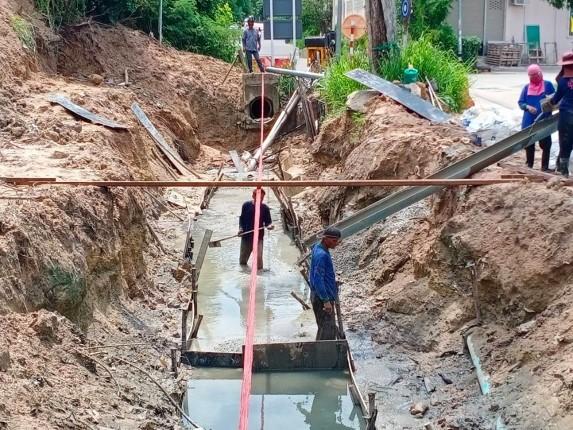 ความคืบหน้าการก่อสร้างระบบน้ำเมืองพัทยา ซอยสุขุมวิท-พัทยา 45