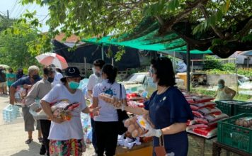 HHN เพื่อเด็กไทย และผู้อุปถัมป์ มอบถุงยังชีพช่วยเหลือเด็กและครอบครัว ในชุมชนเขาน้อย  80 ครัวเรือน